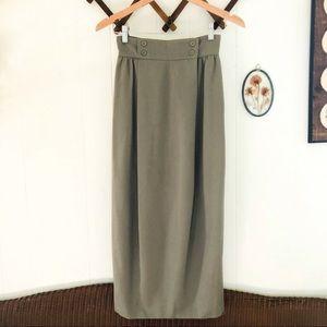 Christian Dior • High Waisted Wool Maxi Skirt